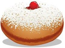 De Doughnut van de Chanoeka van Sufganiyah Royalty-vrije Stock Afbeeldingen