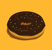 De Doughnut van de chocolade Royalty-vrije Stock Foto