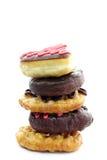 De doughnut van de chocolade Stock Foto's