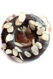 Geïsoleerded de doughnut van de chocolade Royalty-vrije Stock Fotografie