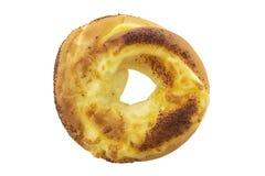 De doughnut van het kaasbovenste laagje die op een witte achtergrond wordt geïsoleerd Royalty-vrije Stock Fotografie