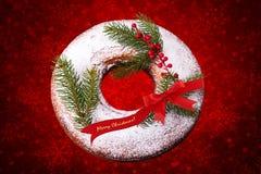 De Doughnut van Kerstmis Stock Foto