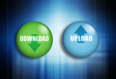 De download uploadt Stock Afbeeldingen