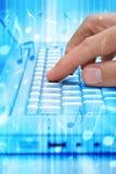 De Download van de Technologie van de Muziek van de computer Stock Fotografie