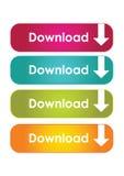 De downloadknopen van het Web stock illustratie