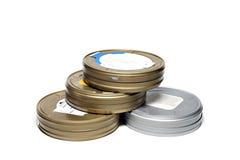 De dozen van de film op witte achtergrond Royalty-vrije Stock Fotografie
