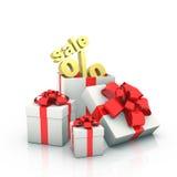 De dozen van de gift. Stock Afbeeldingen