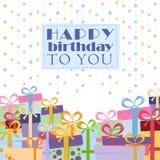 De dozen van de gift op een witte achtergrond Stock Foto