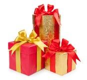 De dozen van de gift op witte achtergrond Royalty-vrije Stock Afbeelding