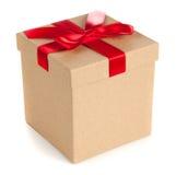 De dozen van de gift op witte achtergrond Stock Foto's