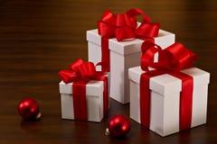 De Dozen van de Gift van Kerstmis Royalty-vrije Stock Foto's