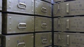 De dozen van de het arsenaalproductie RPG van wapenwapens Gezoem uit stock video