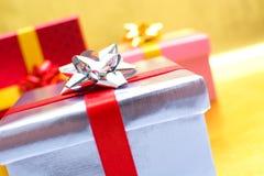 De dozen van de Kerstmisgift Stock Fotografie