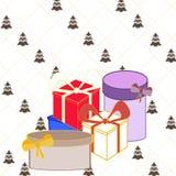 De dozen van de Kerstmisgift Stock Afbeelding