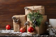 De dozen van de Kerstmisgift Stock Foto