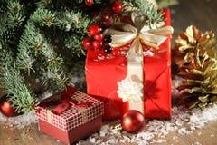 De dozen van de Kerstmisgift royalty-vrije stock afbeelding