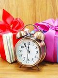 De dozen van de Kerstmisgift en wekker Stock Fotografie