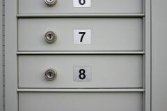 De dozen van de post stock foto's
