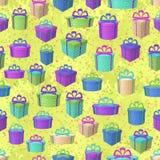 De dozen van de gift, naadloze achtergrond Stock Fotografie