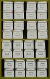 De dozen van het archief stock afbeeldingen