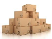 De dozen van het karton vector illustratie