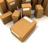 De dozen van het karton Stock Afbeelding