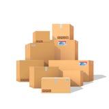 De dozen van het karton Stock Foto