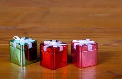 De dozen van Kerstmis van het tin Royalty-vrije Stock Foto