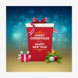 De dozen van de Kerstmisgift Stock Afbeeldingen