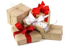 De dozen van Kerstmisgiften Royalty-vrije Stock Foto