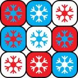 De dozen van sneeuwvlokken Royalty-vrije Stock Afbeeldingen