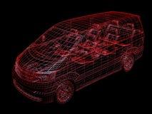 De draad van de auto stock illustratie