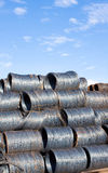 De draad van het staal stock afbeelding