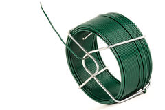 Draad die met groen plastiek wordt behandeld Royalty-vrije Stock Foto