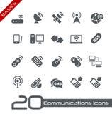 De draadloze Grondbeginselen van Communicatie // van Pictogrammen Royalty-vrije Stock Afbeeldingen