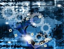 De draadloze technologie van de innovatieverbinding stock afbeelding