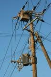 De draadmateriaal van de elektriciteitsdistributie Royalty-vrije Stock Fotografie