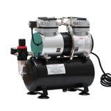 De draagbare compressor van de autolucht stock fotografie