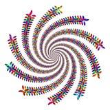 De Draai van de Bloemblaadjes van de regenboog Stock Afbeeldingen