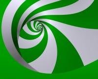 De draai van de groene munt Stock Foto