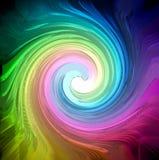 De draaiachtergrond van de kleur stock illustratie