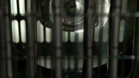 De draaien en de einden van de ventilatorverwarmer stock video