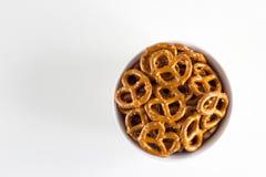 De Draaien van de pretzel stock afbeelding