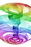 De Draaikolk van de regenboog Stock Afbeeldingen