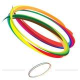 De draaikolkvector van de regenboog Royalty-vrije Stock Fotografie