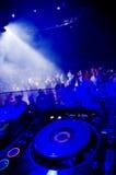 De draaischijf van DJ Stock Foto's