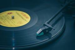 De draaischijf vinylplatenspeler Royalty-vrije Stock Afbeeldingen