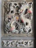 De draak snijdt steen royalty-vrije stock foto's