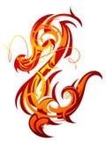 De draak van de brand Stock Foto