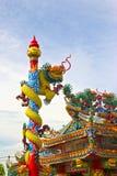 De draak van de de zwaanjade van de demon op het heiligdom royalty-vrije stock foto